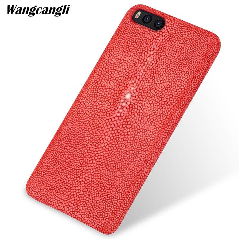 Wangcangli perle demi-pack mobile cas de téléphone portable Pour Xiao mi mi Note 3 cas Personnalisé perle en cuir téléphone cas