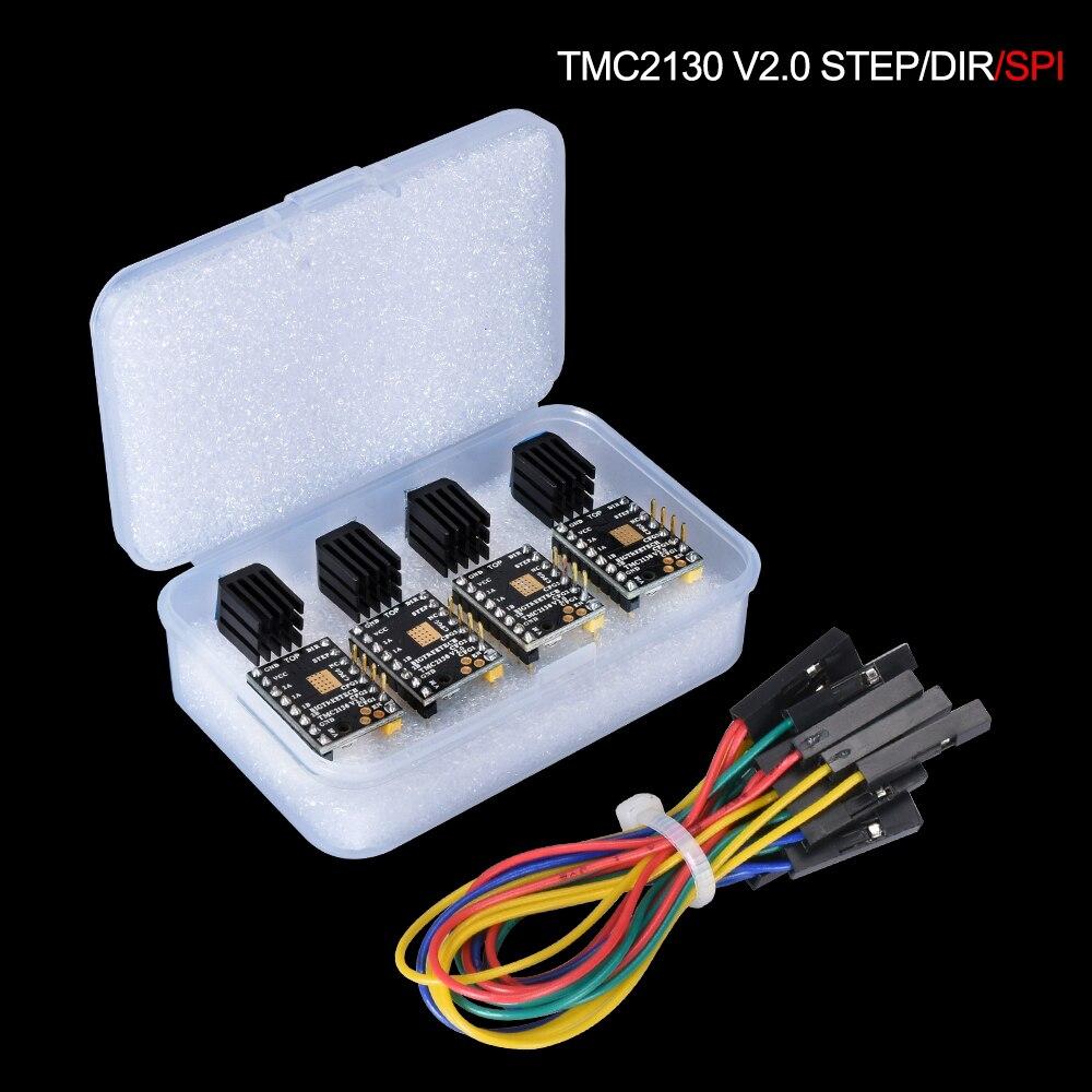 BIQU BIGTREETECH TMC2208 TMC2100 TMC2130 V1 1 SPI MKS шаговый двигатель  StepStick Mute драйвер для 3D-принтера