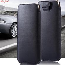 For OnePlus 7 Pro Case Universal Leather Phone 6T 6 T Cover Pull Tab Pouch bag Coque