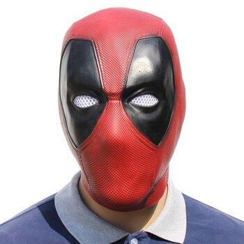 Deadpool قناع تأثيري الفيلم قناع هالوين كامل رئيس الوجه اللاتكس تأثيري زي الدعائم أقنعة تنكرية للحفلات الكبار