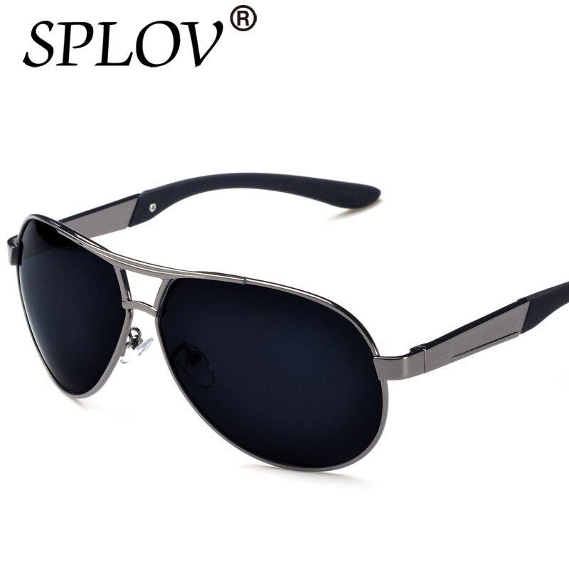 a795f84d33da2c ᑐPolarisées Rétro Alliage lunettes Mâle Homme De Luxe Pilote Métal ...