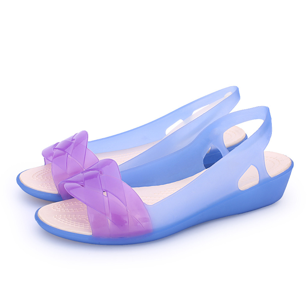 Soft Sandals Jelly-Shoes Beach Women Ladies Mujer Casual Candy-Colors
