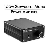 Nobsound Latest Mini 100W Subwoofer Power Amplifier Mono Channel Audio TPA3116D2 Amp Black/Gray