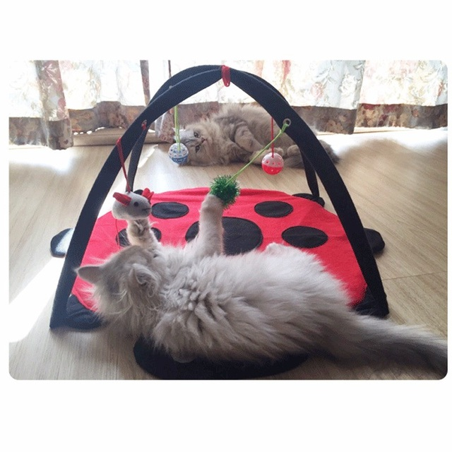 Funny Pet Cat Toys Portable Cat Tent Toys Mobile Activity Pets Play Bed Toys Cat Play Mat Blanket House Foldable Kitten Tents