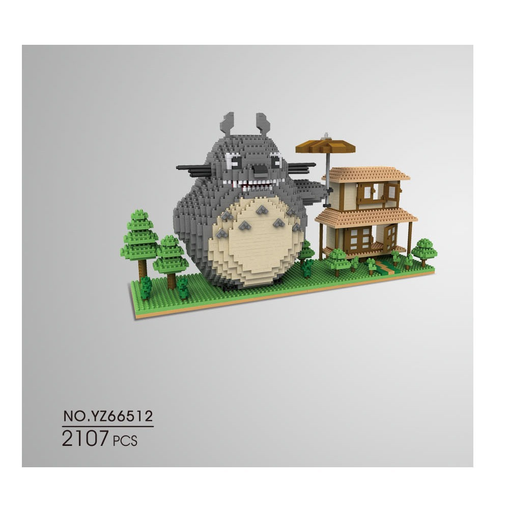 YZ Micro Blocks Titanic DIY Particles Building Bricks Totoro Auction Figure Model Toys 3D Anime Juguetes Boy Toys Gift YZ66512 loz my neighbor totoro toy umbrella totoro model action figure diamond building blocks original box 14 gift 9509