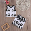 New Toddler Baby Girl Boy Clothes Vest Tops T-shirt Shorts Outfits Set Tracksuit Baby Clothes Set Baby Clothing Set