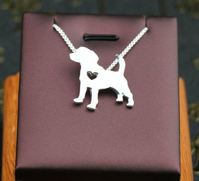 Фото ожерелье с изображением собаки бигля украшение золотым покрытием