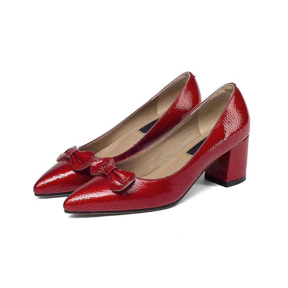 Red De Mariage Parti Robe En Verni Les Cuir Stiletto Pour grey Femmes Plate Pompes Talons Aiweiyi Dames forme Arc Rouge Chaussures Doux Haute wOx6Hf1U