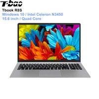 Английская версия T Бао Tbook R8S ноутбука 15,6 ''Windows 10 Intel Celeron N3450 4 ядра PC 1,1 ГГц 6 ГБ 128 ГБ HDMI Тетрадь