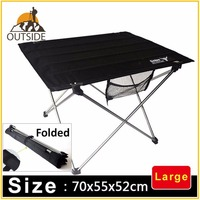 Quality Outdoor Foldable Large Size Table 75x55x52cm Aluminium Alloy Picnic Camping Tool Desk Table Roll Up DurableLightweight