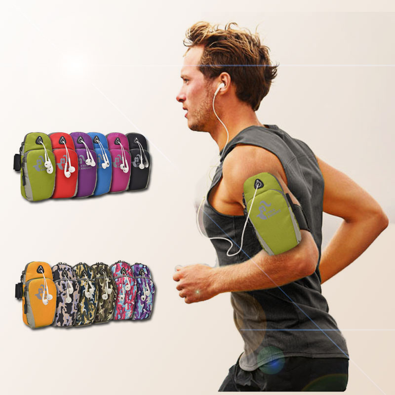 5.5inch Running Arm Bag Pouch Jogging Gym Waterproof Armband Bag Case Workout Gym Wrist Bag Outdoor Cellphone Pack