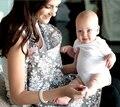 Cubierta de la lactancia materna 100% de muselina de algodón transpirable Madre de alimentación del bebé delantal de Mamá al aire libre cubierta de alimentación del bebé de enfermería de mama
