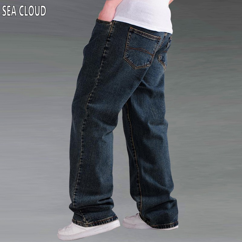 Sea Cloud spring and winter thick plus size loose straight long jeans male denim trousers wear-resistant large pants bim and the cloud