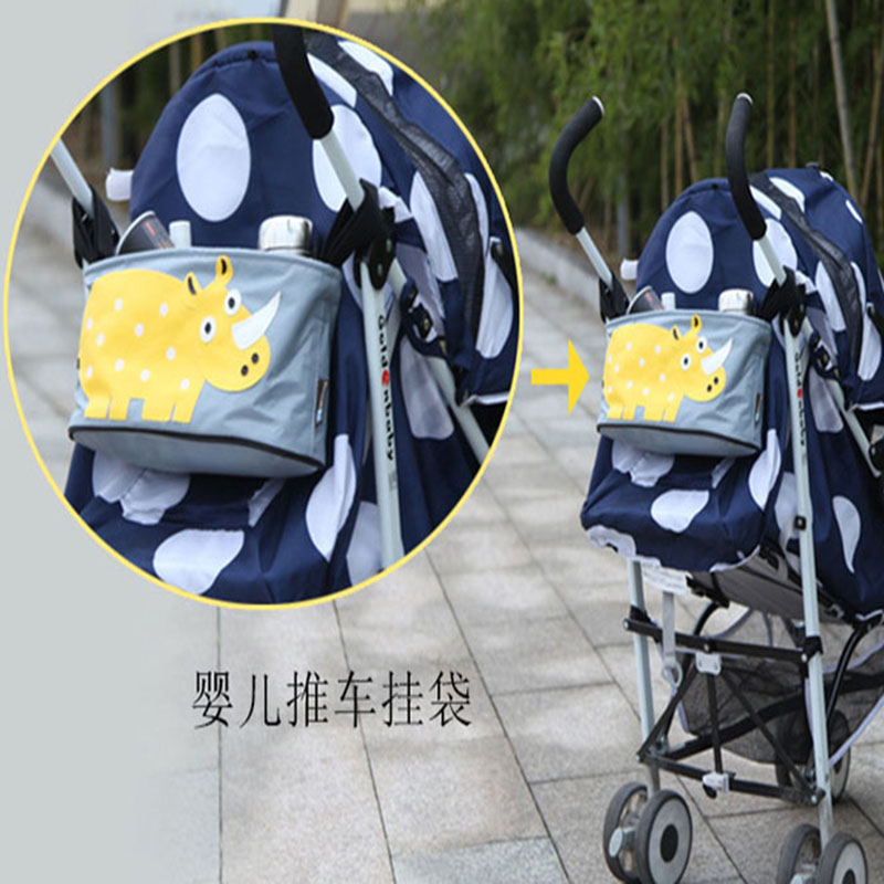 Strollers Accessories Bag Mummy bag waterproof canvas pouch storage box can be incorporated multicolor baby bottle diaper bag