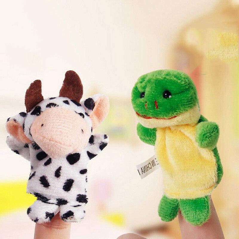 VICIVIYA-10PcsSet-Cute-Cartoon-Biological-Animal-Finger-Puppet-Plush-Toys-Child-Baby-Favor-Dolls-Boys-Girls-Finger-Puppets-2