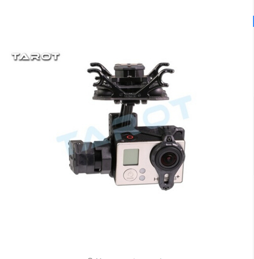 F17394 T4-3D Dual Shock-Absorber Gimbal For Gopro Hero4/3+/3 Double Shock Absorber Gimbal TL3D02 tarot t4 3d dual shock absorber 3 axis gimbal ptz for camera gopro hero4 3 3 tl3d02 multicopter
