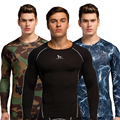 Men Compression Shirt Base Layer Skin Fitness Excercise Underwear Tights Long Sleeve Jerseys Only Shirt Top Without Bottom