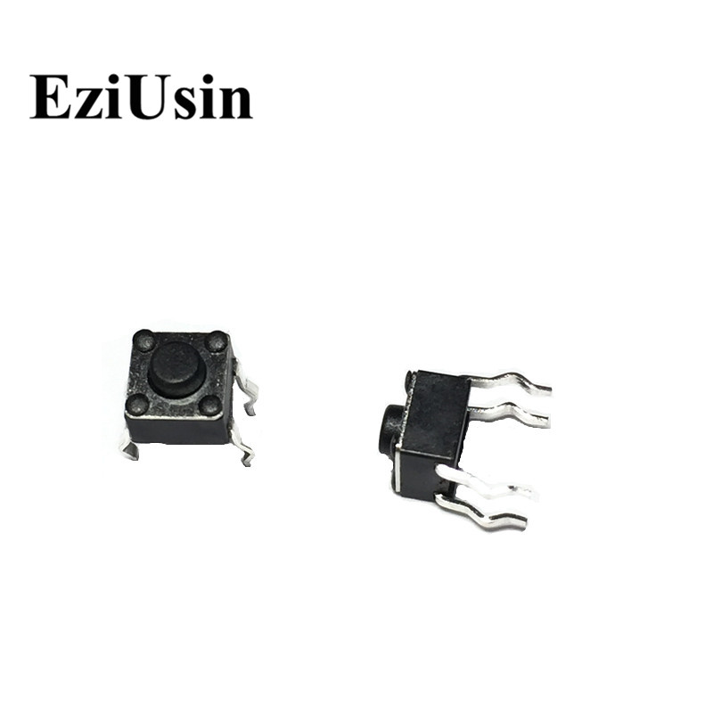 EziUsin 4.5*4.5*3.8 4P PCB Keyboard Touch Button Micro Switch DIP Mini Momentary For Arduino Maker