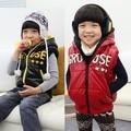 O envio gratuito de roupas de Inverno para crianças menino de algodão colete/coringa superfície brilhante e colete de algodão menino outerwear