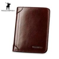 2018 New Wallet Men Purse Fashion Leather 6 Card Holder SIM Card Holder Brand Wallet Men Split Cow Leather Purse Small Purses