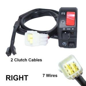 """Image 5 - 7/8 """"22mm Motorrad Motorrad Horn Taste Blinker Elektrische Nebel Lampe Licht Starten Lenker Controller Schalter"""