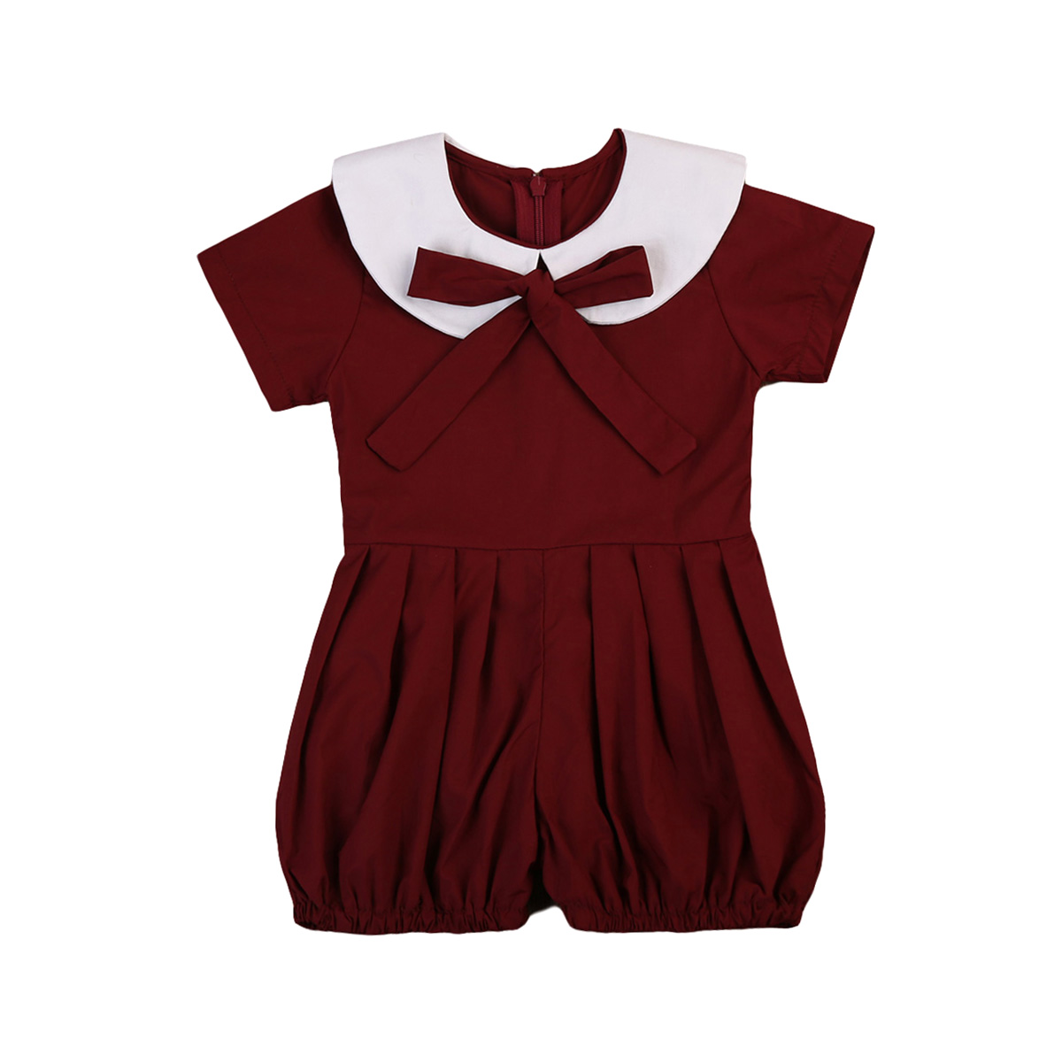 toddler school girl jumper clothes romper wine red uniform kids girls clothing summer outfit in. Black Bedroom Furniture Sets. Home Design Ideas