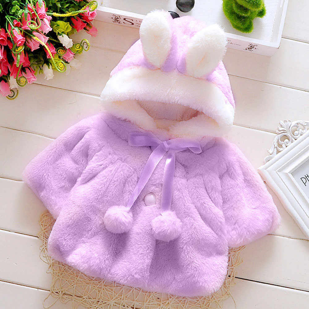 Autumn WinterBaby Infant Girls Autumn Winter Hooded Coat Cloak Jacket Thick Warm Clothes Soft hand feeling roupas de bebe #30