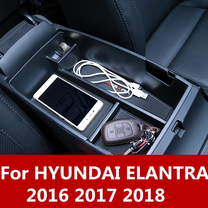 Car Interior Armrest Console Central Storage Box For VW Tiguan 2nd Gen 2016-2018