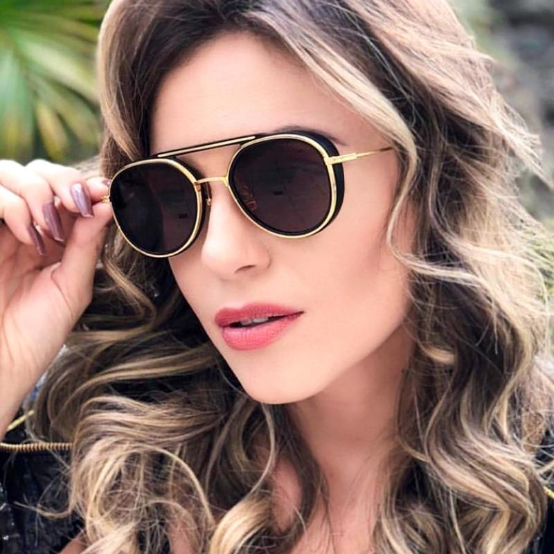 JackJad 2019 mode vaisseau spatial Style SteamPunk Punk lunettes De soleil Cool femmes Vintage marque Design lunettes De soleil Oculos De Sol 95525
