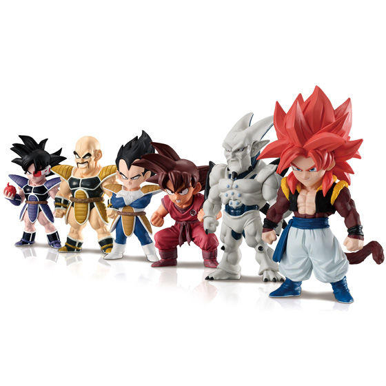 PrettyAngel Genuine Bandai ADVERGE 08 Dragon Ball Full Set of 6 Pcs Nappa Turles Vegeta Goku Gogeta Syn Shenron Toy Figure