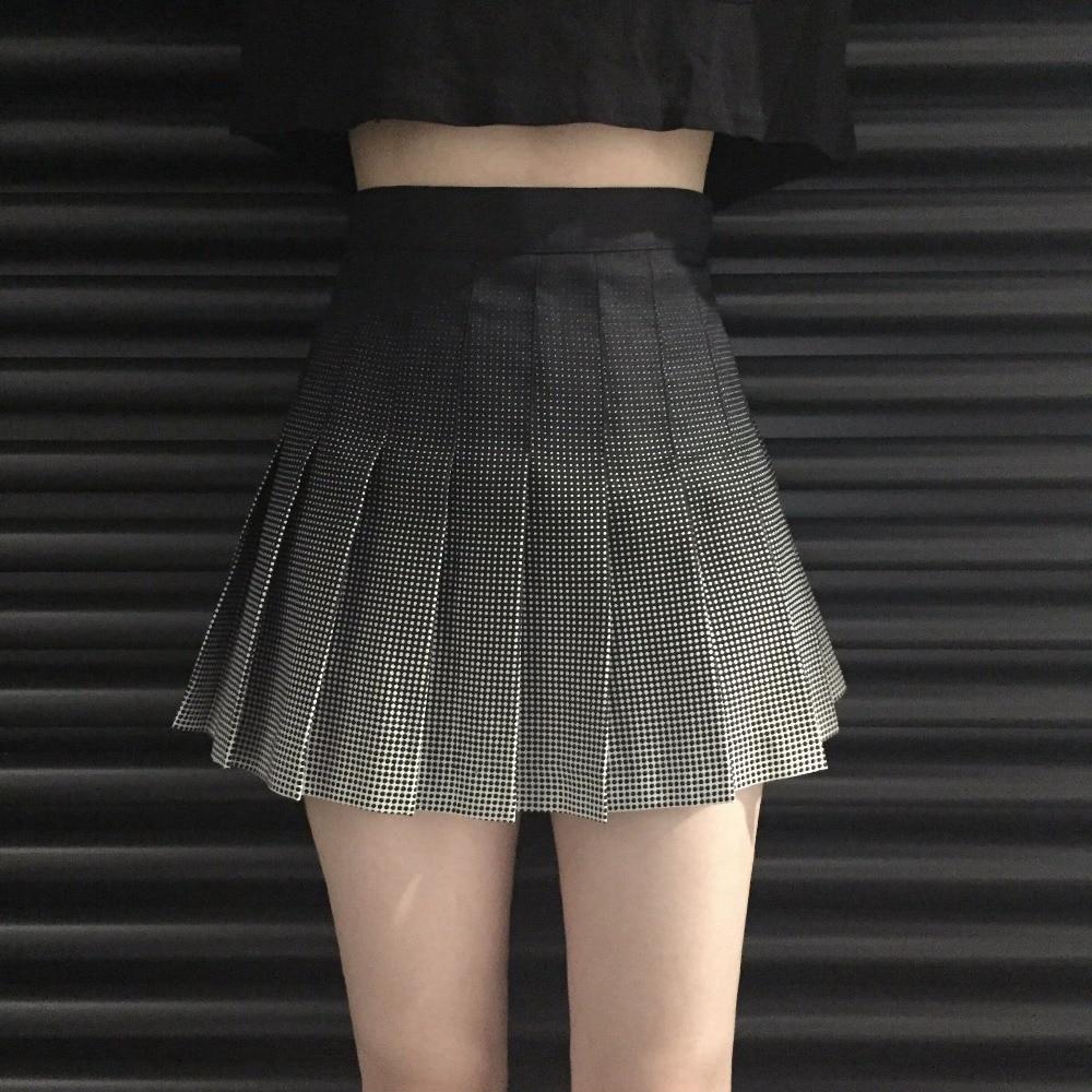 Women's Skirts Ladies Punk Kawaii Ulzzang Retro Pleated