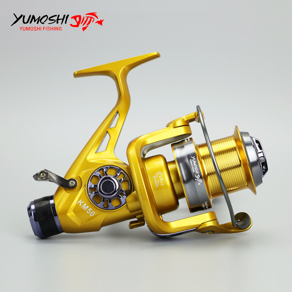 10+1 Ball Bearings Spinning Reel Fishing Fly High Speed 5.2:1 Fishing Reel with Front&Back Brake Quality Fishing Reels jsm size 4000 7000 full metal spinning fishing reels 12 1 ball bearings high speed saltwater spinfisher v spinning reel