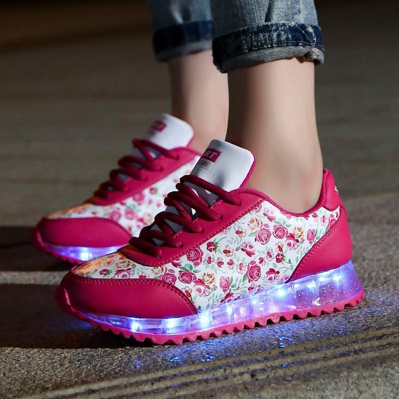 Shoes font b Woman b font 2016 Fashion font b Women b font Colorful Luminous Casual