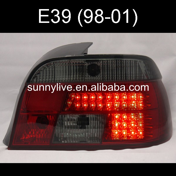 For BMW E39 5 Series 528i 540i LED Tail Lamp 1998 2001 Year Red Black Color SN
