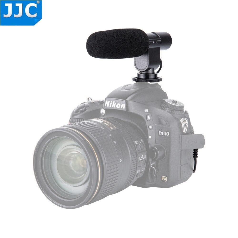 JJC Stereo Microphone for CANON 60D 70D 80D 5D Mark II III 6D 7D FOR NIKON D5500 D5300 D3300 D4S D7200 D7100 D750 D810 D5200 потребительские товары cs pro cs 1 dslr 6d canon 5d 3 7 d t3i d800 d7100 d3300 pb039