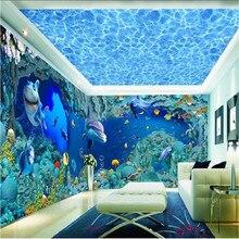 Beibehang на фоне кораллов современная Европейская художественная гостиная большая Настенная картина украшение дома клейкая бумага для мебели