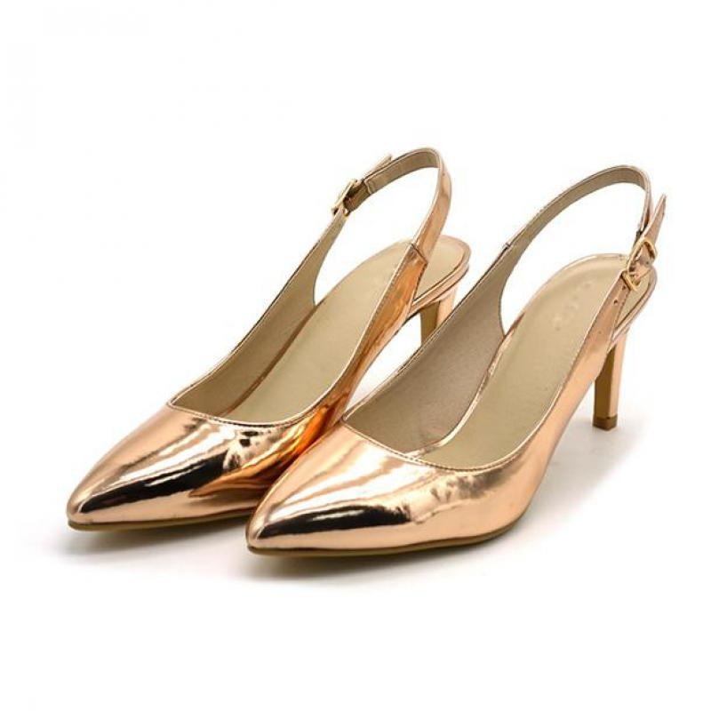 2018 Spring New Sexy Sandals After The Trip With Top Of Slipper And Night Shop Woman Sandals high heel golden shoes