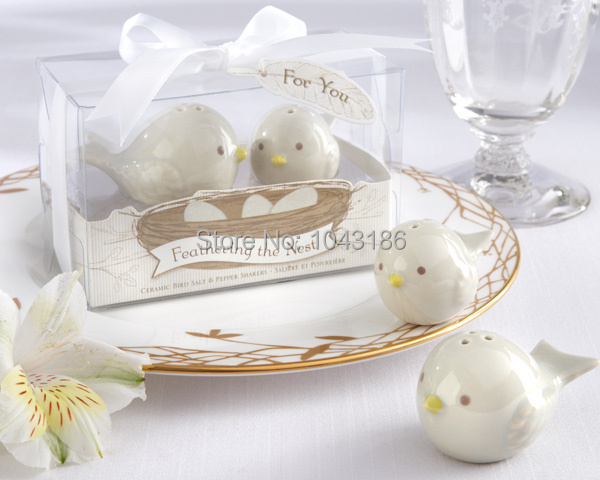 Wedding favor gift and giveaways for guest -- Love Birds Salt and Pepper Shakers door Gifts Wedding Favours 200pcs/lot