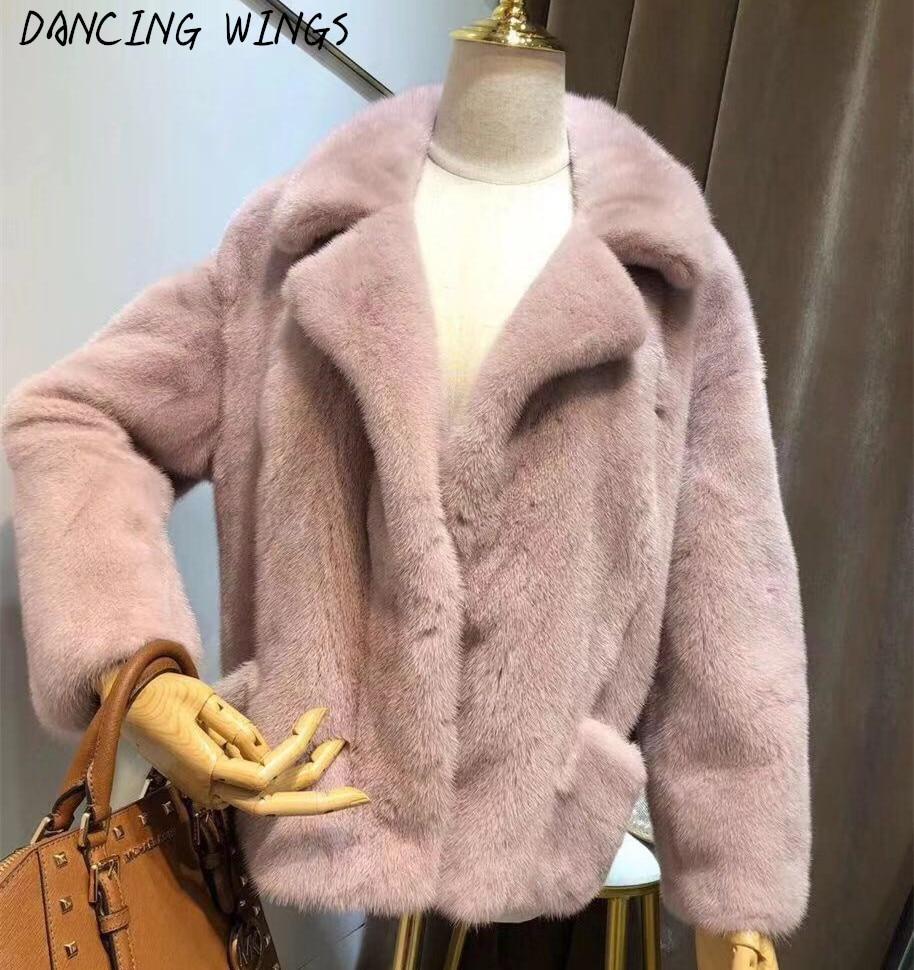 Vêtements Beige Dames Hiver Naturel Réel Moto ardoisé Manteau Fourrure Veste Femmes De Épais Chaud rose Vison dOUqwO