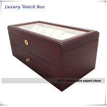 Качество двойных слоев дерево ( MDF ) чехол 22 сетки часы дисплей ящик для хранения рождество подарок на день рождения GC02-TZ-22WD