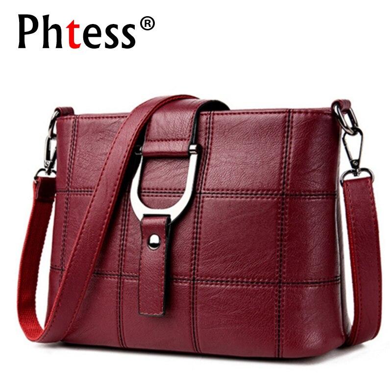 PHTESS Luxus Plaid Handtaschen Frauen Taschen Designer Marke Weibliche Crossbody Umhängetaschen Für Frauen Leder Sac ein Haupt Damen Tasche