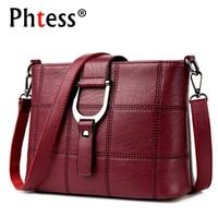 PHTESS Luxury Plaid Handbags Women Bags Designer Brand Female Crossbody Shoulder Bags For Women Leather Sac