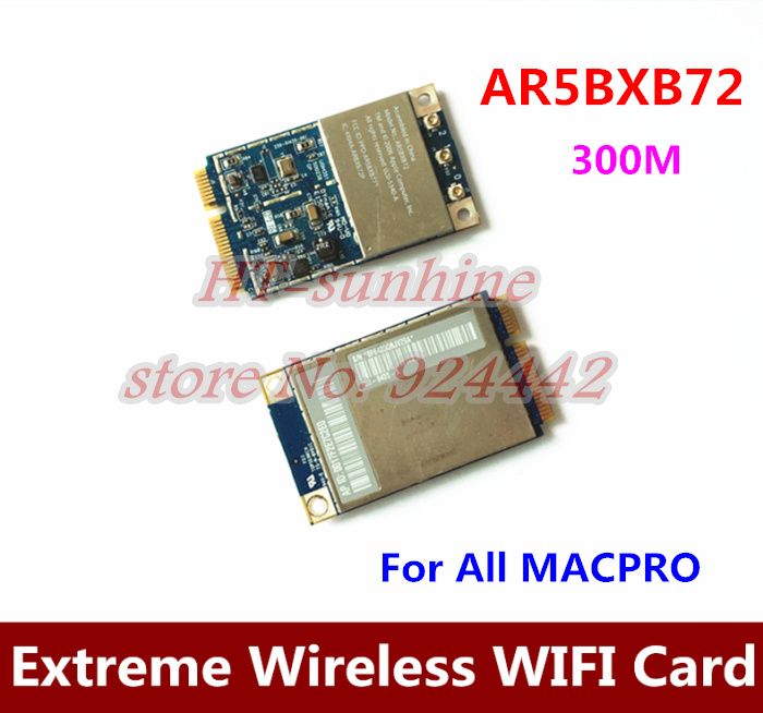 High Quality  5PCS/LOT   For All Mac Pro Atheros Airport Extreme Wireless Mini PCIE WIFI Card AR5BXB72 original high quality genuine for mac pro edition ati radeon x1300 256mb pcie video card for macpro1 1 2 1 xserve