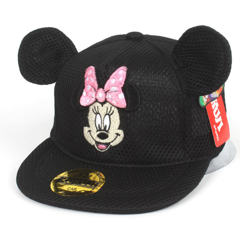 3ea21b77538bc Baby Girl Baseball Hat Cute Mouse Ear Mouse Minnie Baseball Caps For  Children Kids Girl Outdoor Sunscreen Ventilate Hat With Ear-in Hats   Caps  from Mother ...