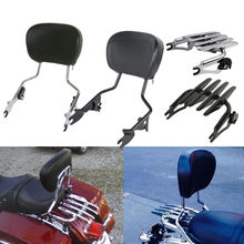 Motorcycle Detachable Backrest Sissy Bar Luggage Rack For Harley Touring Road King Electra Street Glide FLHR FLHX FLHT 09-19 detachable backrest sissy bar for harley touring street glide flhx street glide flhxse road glide road king flhr 09 18 17 16 15