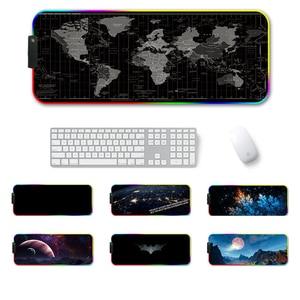 Image 2 - 큰 mousepad xxl 900*400 책상 키보드 led 마우스 매트 게임 마우스 패드 rgb 마우스 패드 rgb 백라이트 mause 패드 pc 노트북
