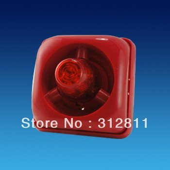 12V DC Strobe Siren  Sound and Flash light For Fire alarm system