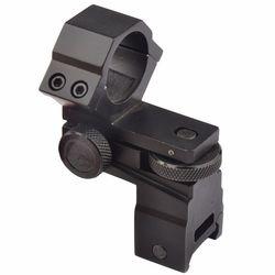 Funpowerland-soporte de mira para linterna láser táctica, 25,4mm de diámetro, elevación ajustable, envío gratuito