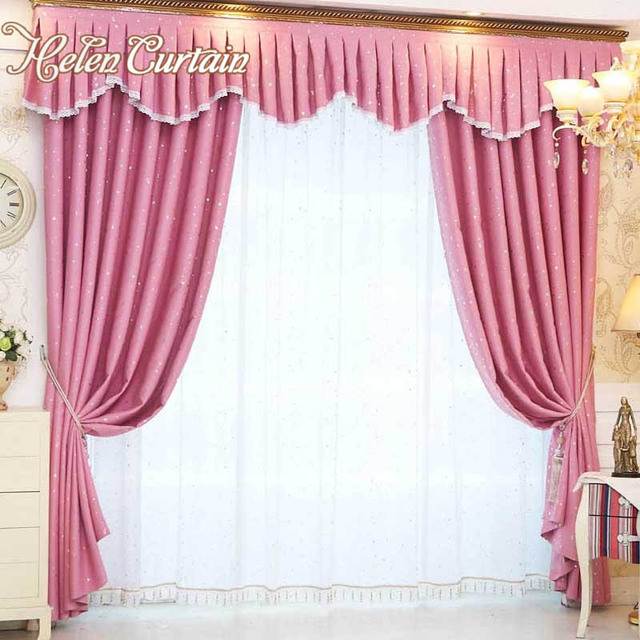 Helen Curtain Set Valance Beautiful Stars Living room Blackout ...