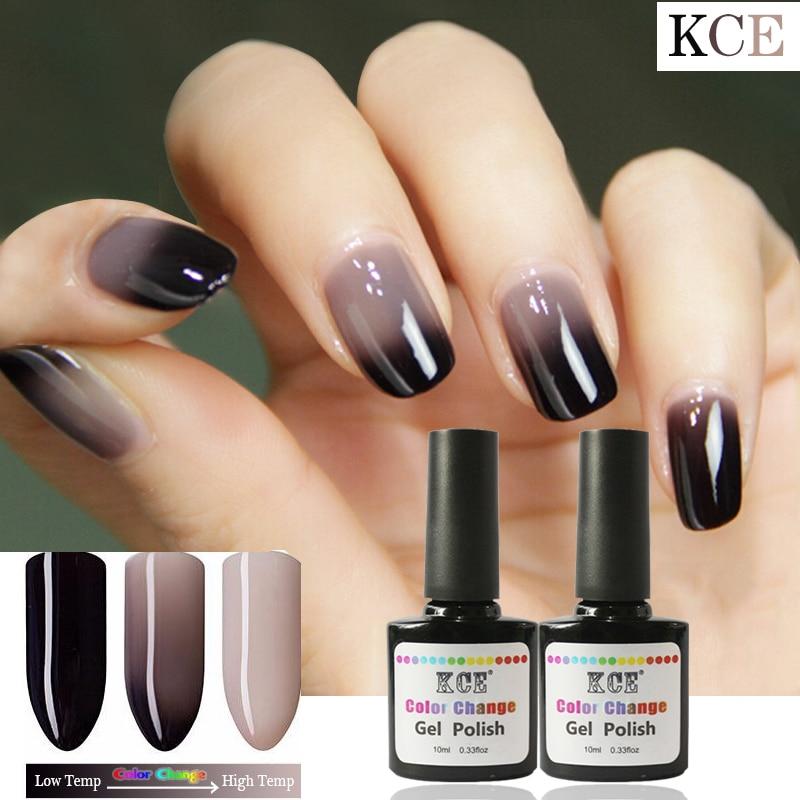 Gel Nail Polish Qualification: New Product Gel Nail Polish Temperature Change Nail Color